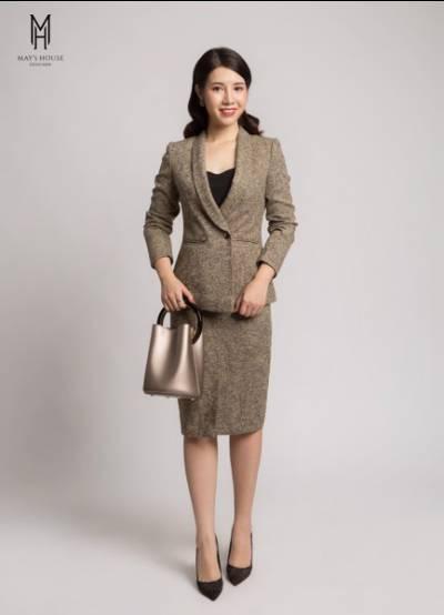 Bộ vest nữ cổ sam