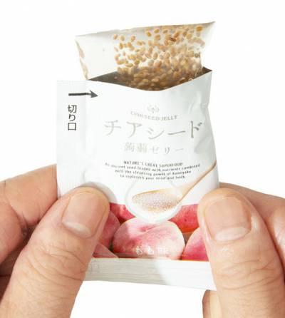 Thạch Chia Seed Jelly KonnyaKu Hương Vị Đào (1 Gói Vị Đào)