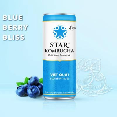 Thùng 12 lon thức uống lên men STAR KOMBUCHA Việt Quất / Blueberry Bliss (250ml/lon)