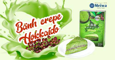 Bánh crepe Hokkaido vị trà xanh đậu đỏ – 320gcung cấp bởi Hokkaido