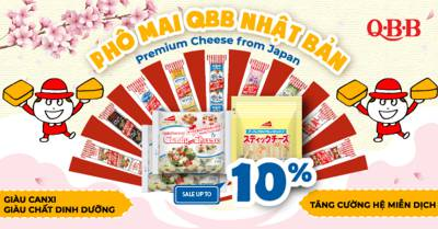 Phô mai QBB giàu sắtcung cấp bởi QBB Cheese