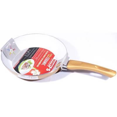 Chảo Ceramic chịu nhiệt Honey's HO-AF1C242 size 24 màu vàng