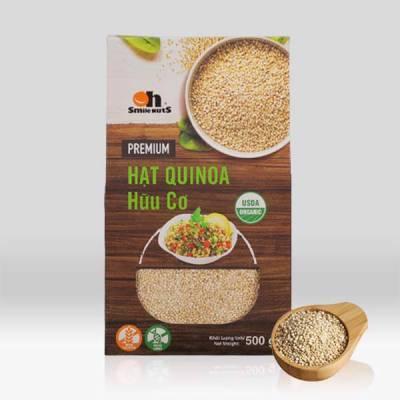 Hạt Quinoa Trắng Hữu Cơ Smile Nuts Hộp 500g - Nhập Khẩu Từ Peru