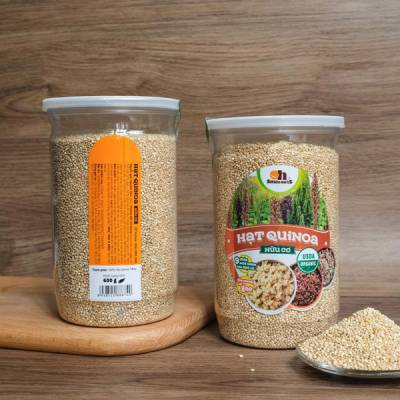Hạt Quinoa (Diêm Mạch) trắng Smile Nuts hộp 600g