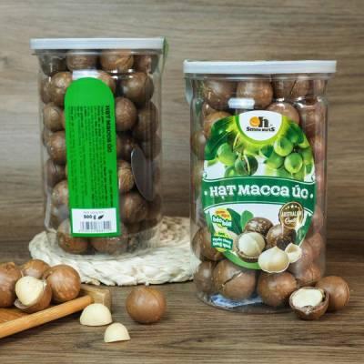 Hạt Macca Úc Nứt Vỏ Smile Nuts Hộp 500g