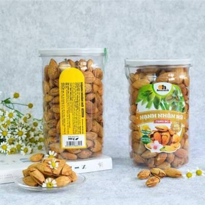 Hạnh Nhân Mỹ Rang Bơ Smile Nuts Hộp 350g