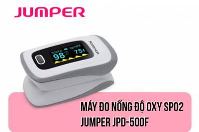 Máy đo nồng độ Oxy máu SPO2 JUMPER JPD-500F - Đo nồng độ oxy - Đo nhịp tim - Kết hợp với App - Tự động tắt khi không sử dụng (Chứng nhận FDA Hoa Kỳ)