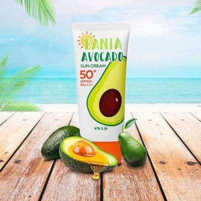 Kem chống nắng dưỡng da chiết xuất quả bơ dành cho da khô SPF 50+/PA++++  BANIA Avocado Suncream 50ml