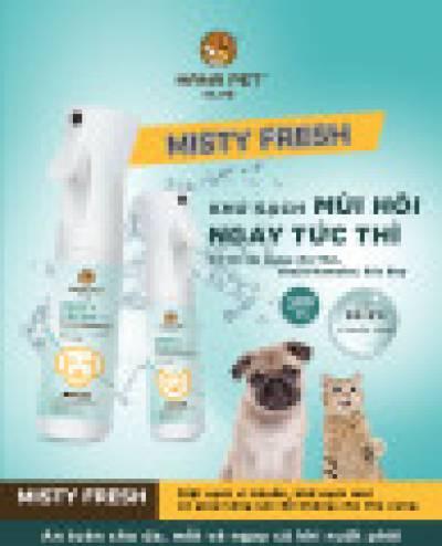 Xịt khử mùi diệt khuẩn đa năng Misty Fresh 300ml (cho mèo)