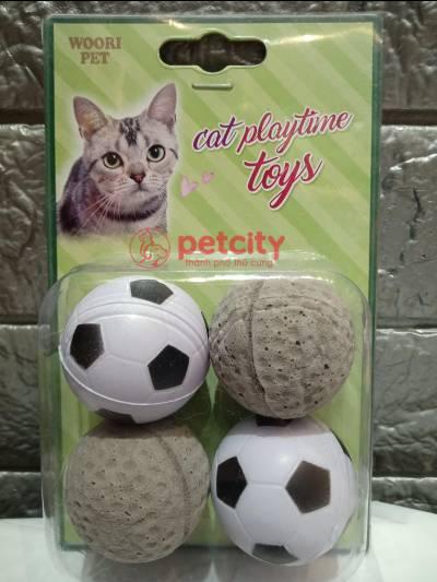 Đồ chơi banh xám & bóng đá  (cho mèo)