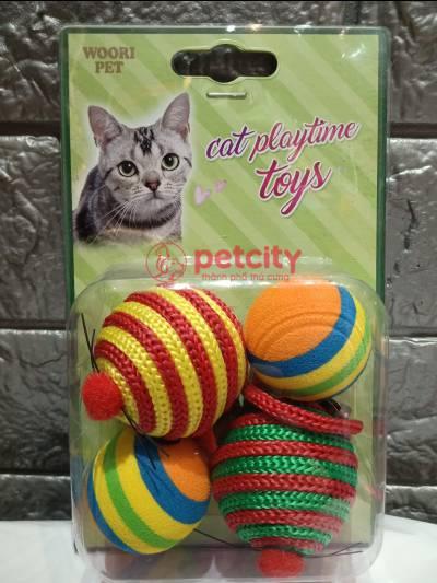 Đồ chơi chuột tròn Stripe (cho mèo)