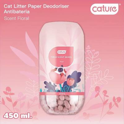 Cature- Hạt khử mùi mèo Fresh Scent Deodoriser- Floral Smell Lọ 200v