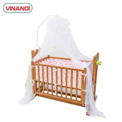 Nôi Em Bé Tự Động Vinanoi-VNN301M Gỗ Thông Cao Cấp Vừa Làm Nôi Vừa Làm Võng Màu Cánh Dán
