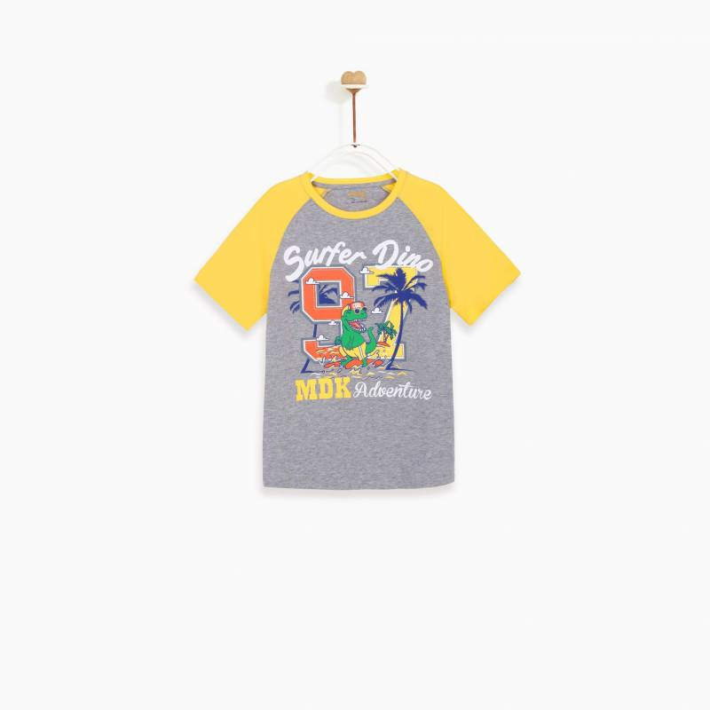 Áo bé trai - Raglan Surf Dinosaur